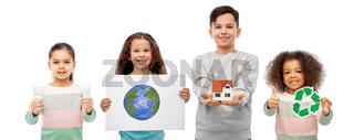 international group of eco friendly children