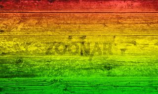 Holzbrett Hintergrund in Reggae-Farben