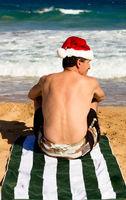 Christmas Spirit on the Beach