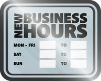 new business hours sign