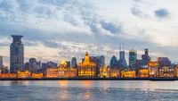Panoramic view of Shanghai city