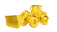 3D rendering of a shovel modern digging machine isolated on a white background.
