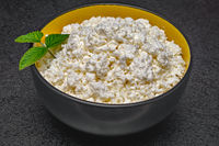 Close-up of cottage cheese