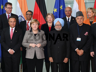 Family picture of the second Indian-German government consultations