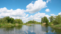 The idyllic river Ehle near the municipality of Biederitz near Magdeburg in Germany
