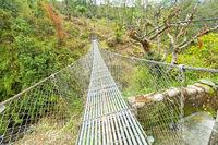 Suspension Footbridge, Trek to Annapurna Base Camp, Himalaya, Nepal