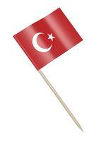 Turkish flag toothpick