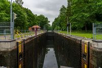 A sluice at the River Elde near Weisin, Germany