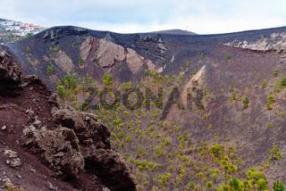 Volcanic crater. San Antonio volcano in Fuencaliente, La Palma