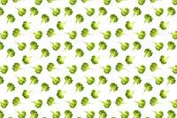 pop art background from lettuce green leaves salad. frillice salad isolated on white. iceberg salad leaf flat lay