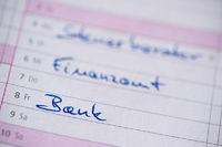 calendar entry finance