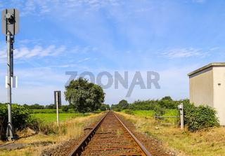 Bahnstrecke im Norden