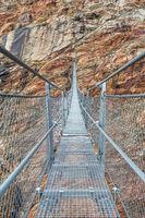 The spectacular Picard Bridge near Vent, Ötztal, Tyrol, Austria
