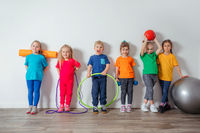 Young children adore doing physical activities at preschool