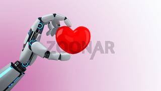 Humanoid Robot Hand Heart