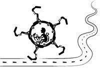 Walking Wheel Vehicle Ride Cartoon
