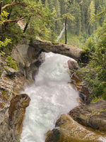 Stuibenfall is dramatic cascade falling 159 meters, Austria.