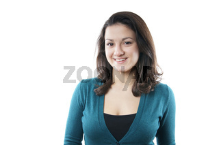 fröhliche junge Frau
