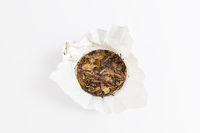 white tea of old tree isolated