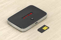 Mobile router and sim card