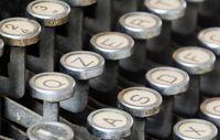 Keys of an old typewriter