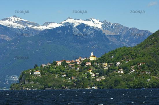 village Pino sulla Sponda del Lago Maggiore, Italy