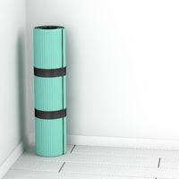 Rubber fitness mat