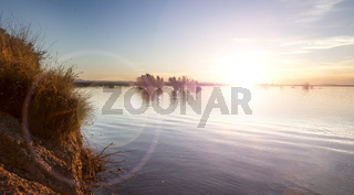 Water sunset background