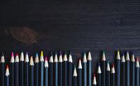 Multicolored pencils collection