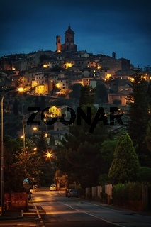Historic night town Sinalunga - Tuscany
