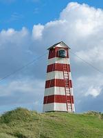 Norre Vorupor lighthouse in the dunes, Jutland, Denmark
