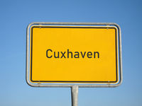 place name sign Cuxhaven