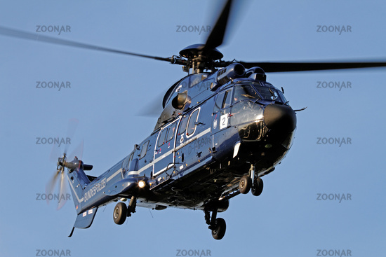 AS 332 L1 Super Puma helicopter of the Federal Pol