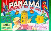 Panama Dolega, mural celebrating the first 500 years of Panama city.