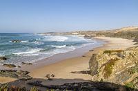 beach Praia do Almograve, Alentejo, Portugal