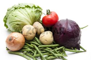 Frisches Gemüse aus dem Garten