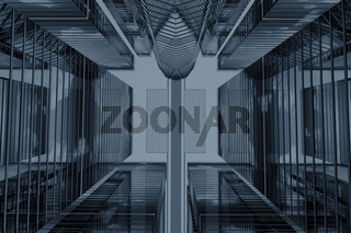 scrapers abstract business concept 3d background