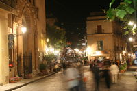 Cefalu in Italy at night