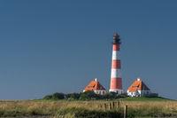 Lighthouse Westerheversand, Westerhever, Eiderstedt, North Frisia, Schleswig-Holstein, Germany