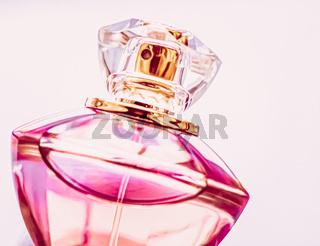 Womens perfume, pink cologne bottle as vintage fragrance, eau de parfum as holiday gift, luxury perfumery brand present