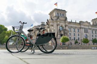 Fahrrad des Fahrradverleihsystems Nextbike in Berlin