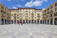 Plaza Major Central Square in Palma de Mallorca