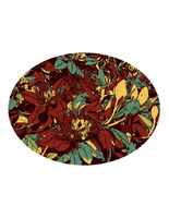 Flower of the Pohutukawa or Metrosideros Excelsa Set Inside Oval WPA Art