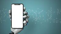 Robot Hand Smartphone Network