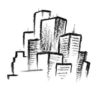 sketched city