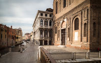 VENICE, ITALY - SEPTEMBER 202!: The Scuola Grande della Misericordia and Fondamente della Misericordia in Venice