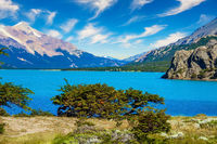 Huge lake with azure water