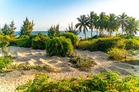 The amazing view of Sanya beach on Hainan, China