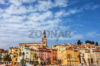 Old Town of Menton skyline in France