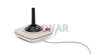 black retro joystick with red button